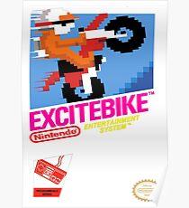 NES Excitebike Transparent Poster