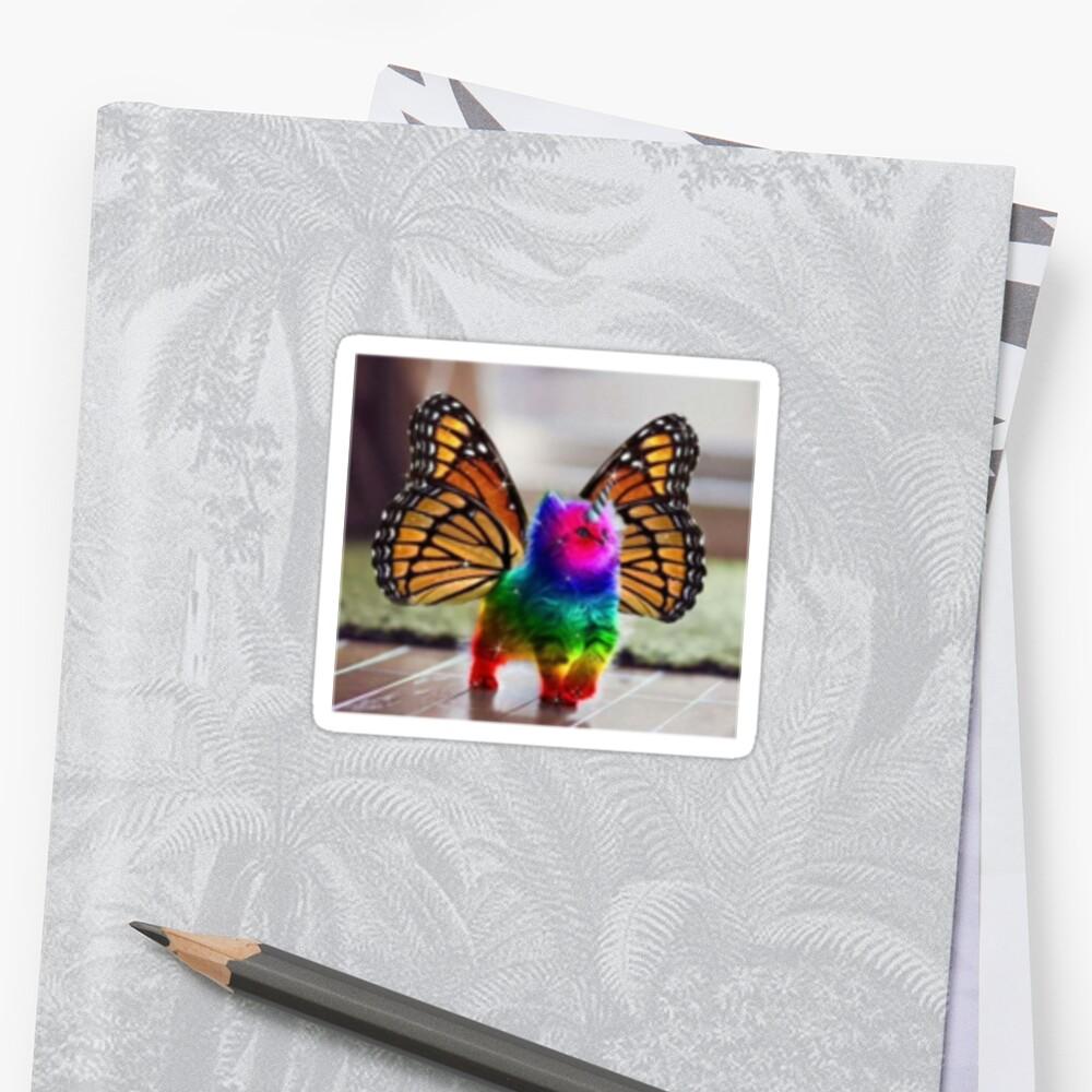 Rainbow Butterfly Unicorn Kitten by BubblyBlonde17