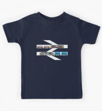 Class 58 and Class 37 freight trains print Kids Clothes