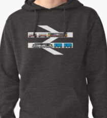 Class 58 and Class 37 freight trains print Pullover Hoodie