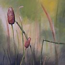 Field Impressions 6: Cattail (card only) by Tanja Udelhofen