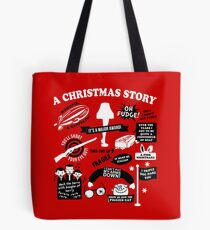 Christmas Story Quotes Tote Bag
