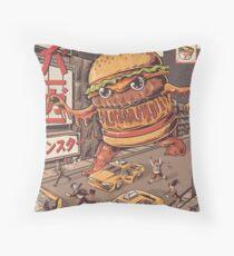 BurgerZilla Throw Pillow
