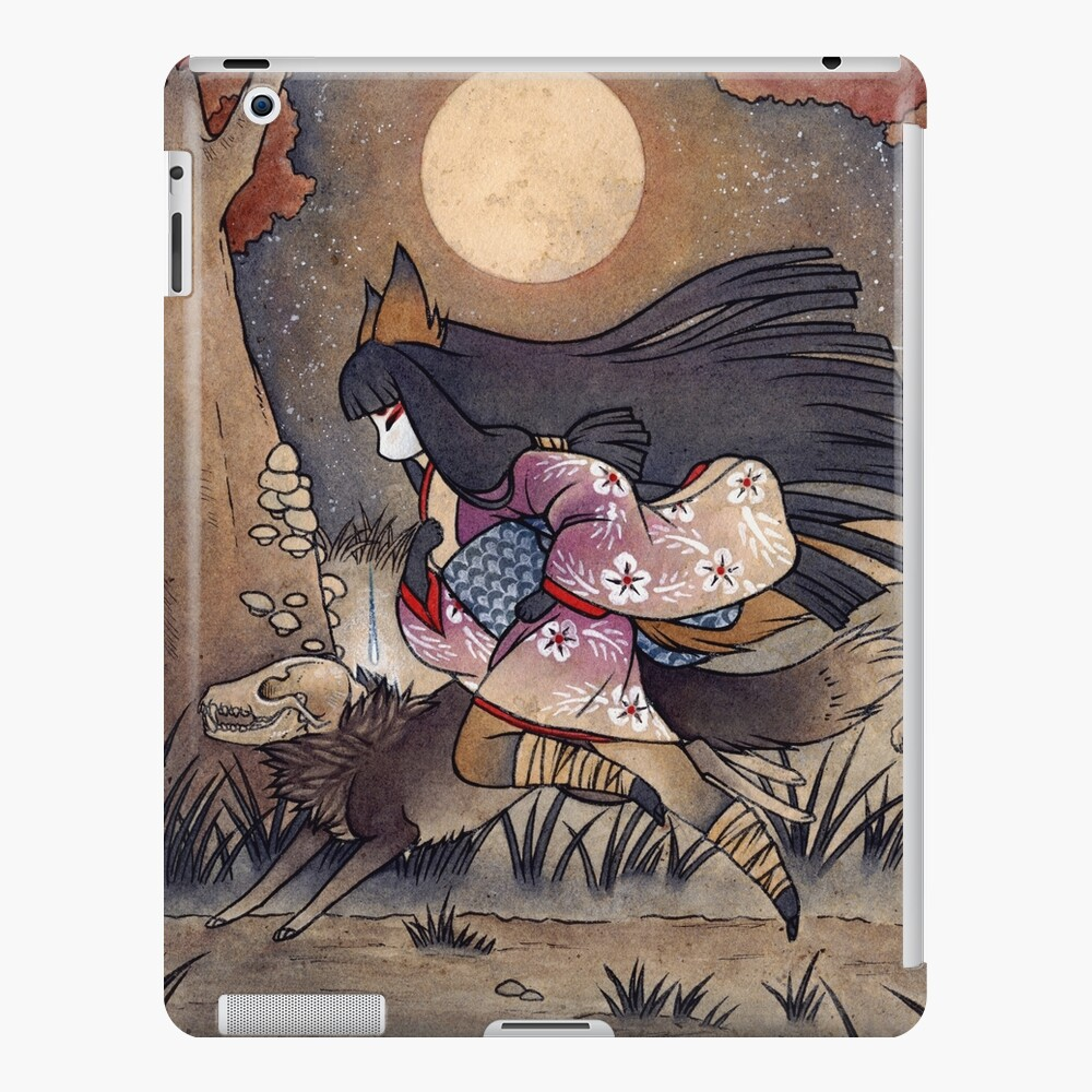 Running With Monsters - Kitsune Fox Yokai  iPad Case & Skin