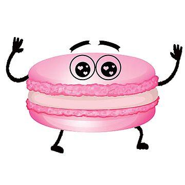 cute pink macaron by autrouvetout
