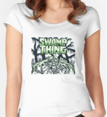 Swamp Thing gameboy Women's Fitted Scoop T-Shirt