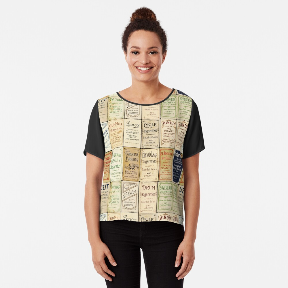 The T206 Baseball Cards Collector design! Chiffon Top