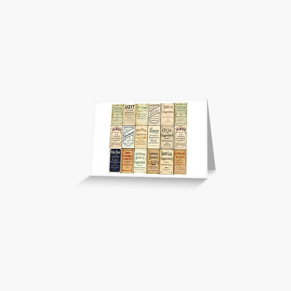The T206 Baseball Cards Collector design! Greeting Card