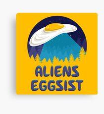 Aliens Eggsist Canvas Print