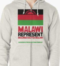 Malawi, represent Zipped Hoodie