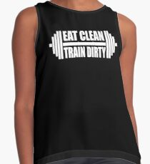 Eat Clean Train Dirty Contrast Tank
