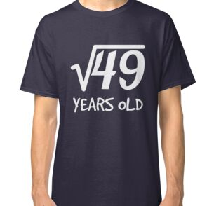 Square Root Of 49 7th Birthday 7 Years Old Boy Girl One Piece