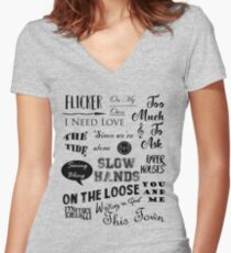 Flicker Songs | Niall Horan Women's Fitted V-Neck T-Shirt