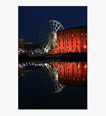 Night time at Salthouse Dock Photographic Print