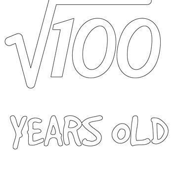 Square Root of 100: 10th Birthday 10 Years Old Boy Girl by geekydesigner