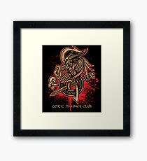 Dragon Slayer (Gold) Framed Print