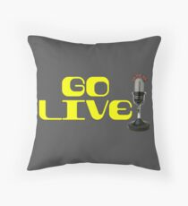 Microphone Radio DJ Podcast Tshirt Throw Pillow