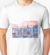 Edinburgh Schottland Sonnenuntergang über der Altstadt T-Shirt