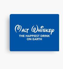 Malt Whiskey (Disney PARODY) Canvas Print