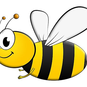 BEE, Cartoon, Bumble, Flying, Insects, Kids, Honey,  by TOMSREDBUBBLE