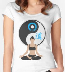 Jing Jang - Harmony - Yoga - Joga Women's Fitted Scoop T-Shirt