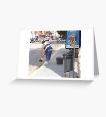 """ A clean sweep "" Greeting Card"