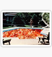 Vintage Pizza Pool Party Collage Sticker