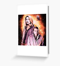 The 13th doctor and assistant.  Greeting Card