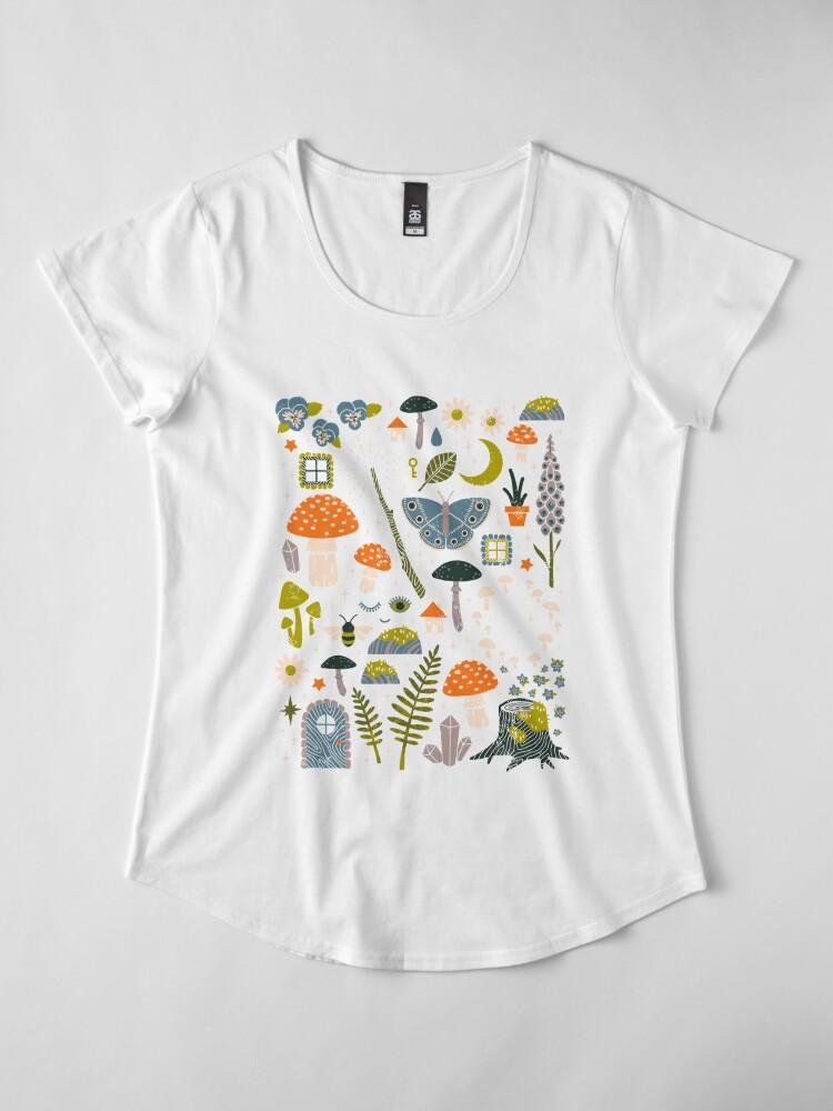 Alternative Ansicht von Märchengarten Premium Rundhals-Shirt
