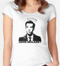 John Mulaney Tailliertes Rundhals-Shirt