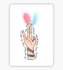 Migraine/Guns for Hands  Sticker