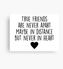 True friends are never apart Canvas Print