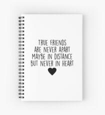 Cuaderno de espiral Los verdaderos amigos nunca están separados