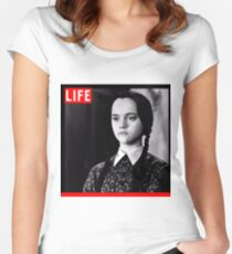 Life Wednesday Addams  Women's Fitted Scoop T-Shirt