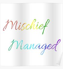 Mischief Managed Watercolour Poster