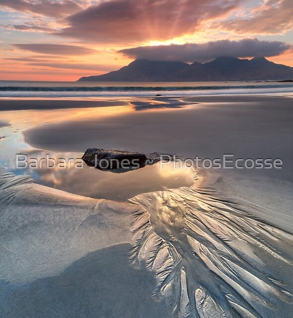 Singing Sands. Rock Pool at Sunset. Isle of Eigg. Small Isles. Scotland. by Barbara  Jones ~ PhotosEcosse
