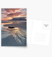 Singing Sands. Rock Pool at Sunset. Isle of Eigg. Small Isles. Scotland. Postcards
