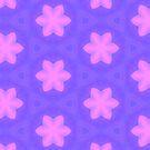 Pink flowers pattern by Silvia Ganora