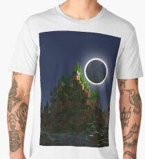 Shadow of the Moon Voxel Art Men's Premium T-Shirt