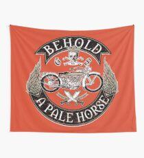 Vintage Motorcycle Biker Grunge Orange Wall Tapestry