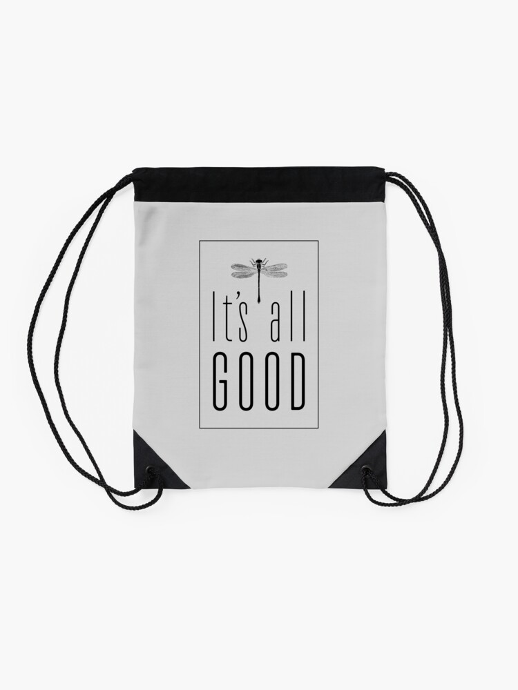 Alternate view of It's All Good Drawstring Bag