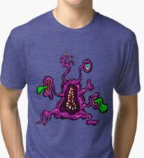 Alien Wiggle Monster - Toes Tri-blend T-Shirt
