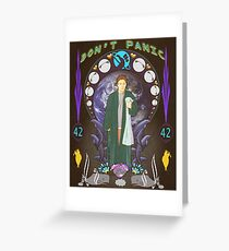 Art(hur) Nouveau - Hitchhikers Guide Greeting Card