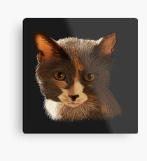 Dilute Calico Cat Metal Print