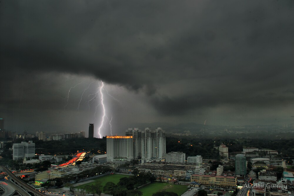 Lightning, Kuala Lumpur, Malaysia by Alisdair Gurney