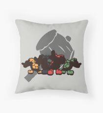 Koopa Bros - Sunset Shores Throw Pillow