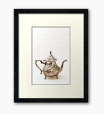 Moroccan Silver Teapot Framed Print