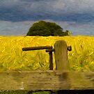 Rapeseed Fields Impressionist 2 by Glen Allen
