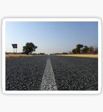 Botswana Botsuana on the Road auf der Straße Baum Tree Picnic Picknick Sticker
