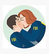 Mulder and Scully Kiss - The X-Files Photographic Print